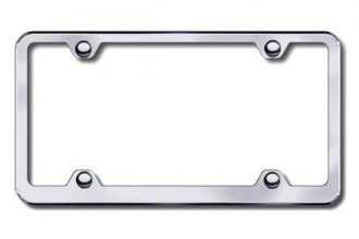 Autogold® - Plain 4-Hole Wide Body Brushed Stainless Steel Frame