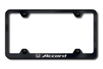 Autogold® - Laser Etched Accord Logo on Wide Body Black Frame