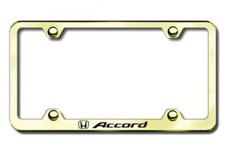 Autogold® - Accord Logo on Gold License Plate Frame