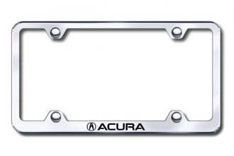 Autogold® - Laser Etched Acura Logo on Chrome Metal Frame