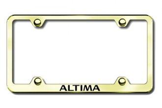 Autogold® - Altima Logo on Gold License Plate Frame
