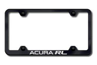 Autogold® - Laser Etched Acura RL Logo on Wide Body Black Frame