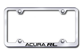 Autogold® - Laser Etched Acura RL Logo on Chrome Metal Frame