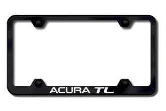 Autogold® - Acura TL Logo on Black License Plate Frame