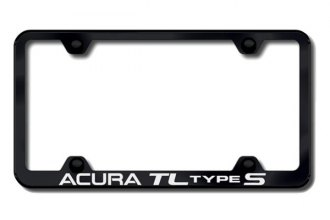 Autogold® - Acura TL S Logo on Black License Plate Frame