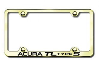Autogold® - Acura TL Logo on Gold License Plate Frame