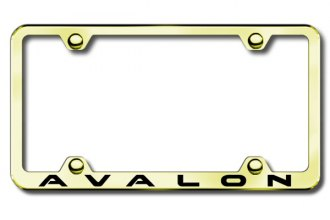 Autogold® - Laser Etched Avalon Logo on Gold Metal Frame