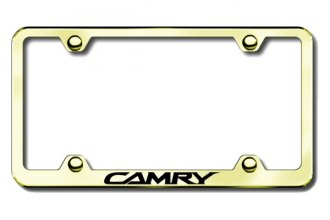Autogold® - Camry Logo on Gold License Plate Frame