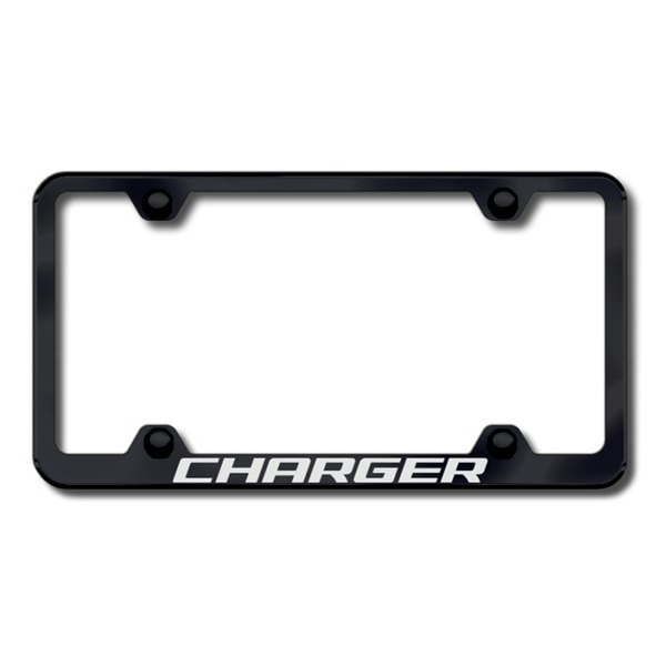 Autogold® - Laser Etched Charger Logo on Wide Body Black Frame