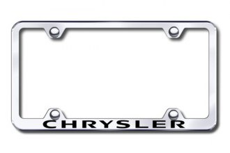 Autogold® - Laser Etched Chrysler Logo on Chrome Metal Frame