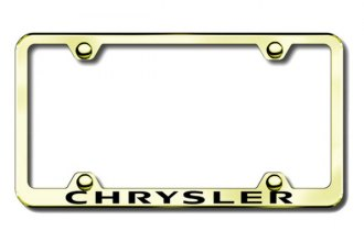 Autogold® - Chrysler Logo on Gold License Plate Frame