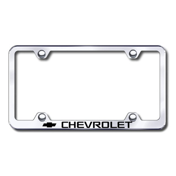 Autogold® - Laser Etched Chevy Logo on Chrome Frame