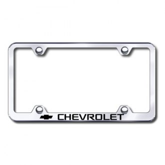 Autogold® - Laser Etched Chevy Logo on Wide Body Chrome Frame