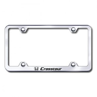 Autogold® - Laser Etched Crosstour Logo on Wide Body Chrome Metal Frame