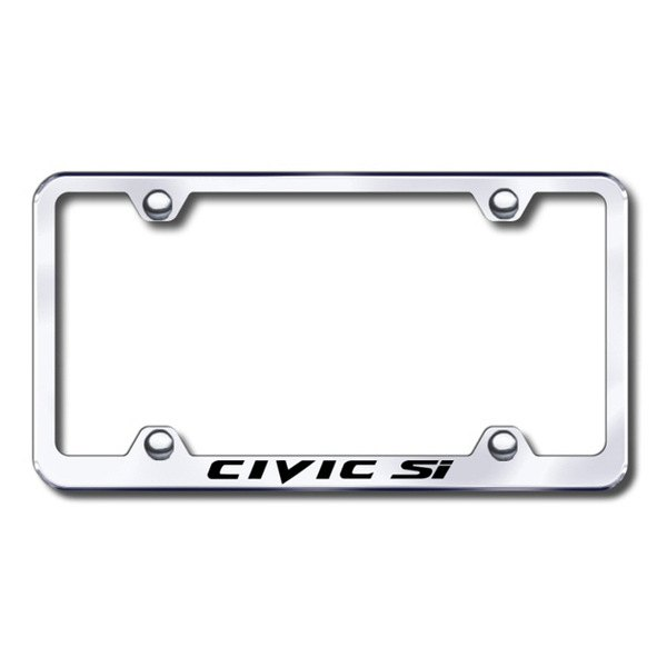 Autogold® - Laser Etched Civic Si Logo on Chrome Metal Frame