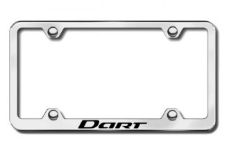 Autogold® - Laser Etched Dart Logo on Wide Body Chrome Metal Frame