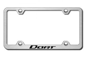 Autogold® - Laser Etched Dart Logo on Wide Body Brushed Stainless Frame