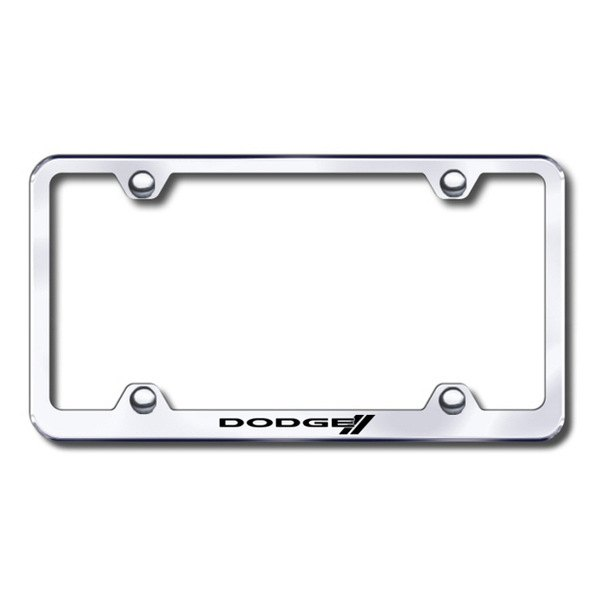 Autogold® - Dodge Stripes Logo on Chrome Frame