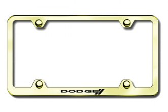 Autogold® - Dodge Stripes Logo on Gold License Plate Frame