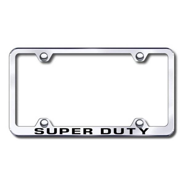 Autogold® - Laser Etched Super Duty Logo on Wide Body Chrome Metal Frame