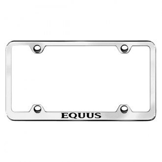 Autogold® - Wide Body Black License Plate Frame with Laser Etched Equus Logo