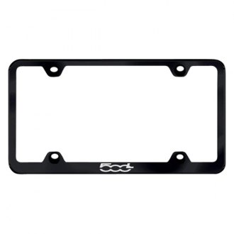 Autogold® - Wide Body License Plate Frame with Laser Etched Fiat 500L Logo