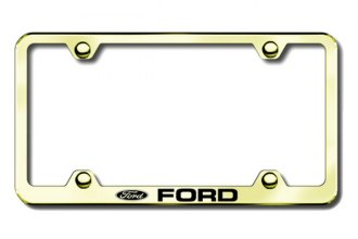 Autogold® - Ford Logo on Gold License Plate Frame