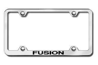 Autogold® - Laser Etched Fusion Logo on Wide Body Chrome Metal Frame