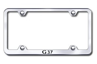 Autogold® - Laser Etched G37 Logo on Wide Body Chrome Metal Frame