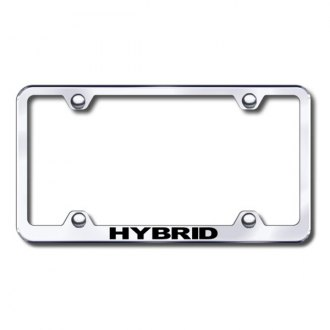 Autogold® - Laser Etched Hybrid Logo on Wide Body Chrome Metal License Frame