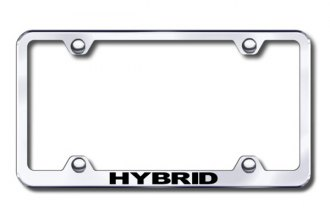 Autogold® - Laser Etched Hybrid Logo on Chrome Metal Frame