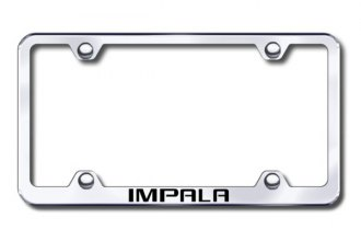 Autogold® - Laser Etched Impala Logo on Wide Body Chrome Frame