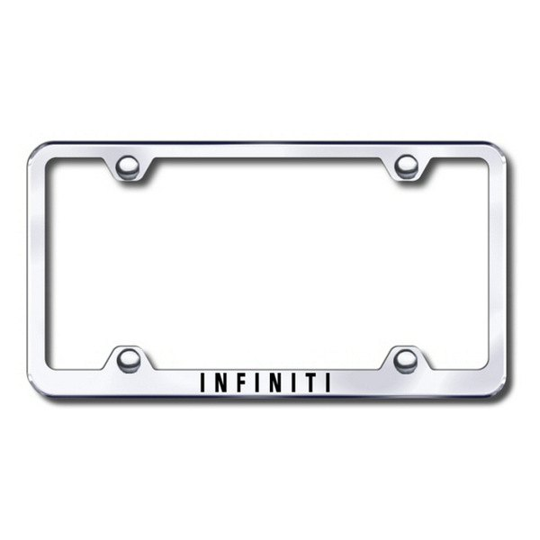 Autogold® - Laser Etched Infiniti Logo on Wide Body Chrome Metal Frame