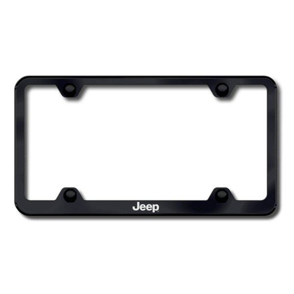 Autogold® - Laser Etched Jeep Logo on Wide Body Black Frame