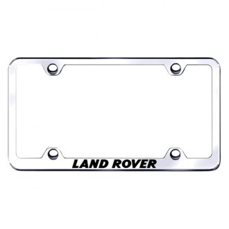 Autogold® - Wide Body License Plate Frame with Laser Etched Land Rover Logo