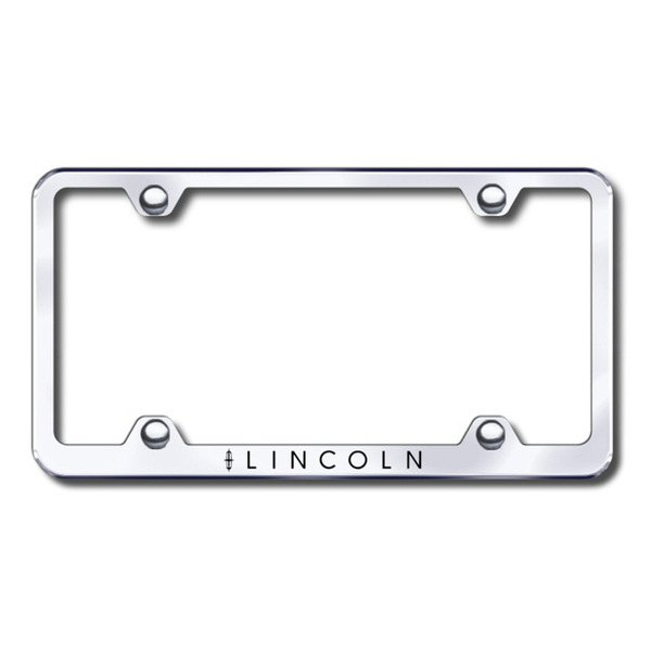 Autogold® - Laser Etched Lincoln Logo on Wide Body Chrome Metal Frame