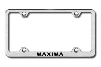 Autogold® - Laser Etched Maxima Logo on Brushed Stainless Frame