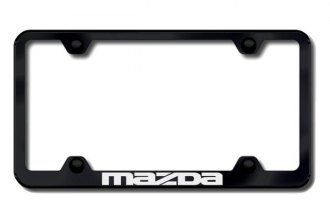 Autogold® - Mazda Logo on Black License Plate Frame