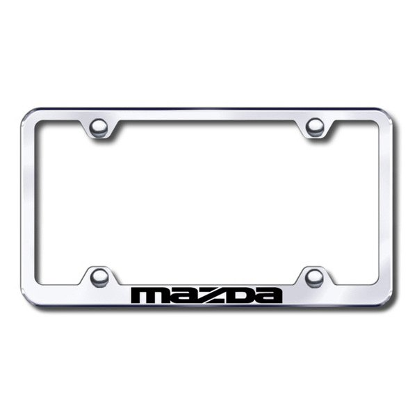 Autogold® - Laser Etched Mazda Logo on Wide Body Chrome Metal Frame
