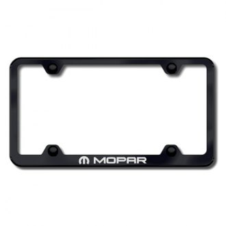 Autogold® - Laser Etched Mopar Logo on Wide Body Black Frame
