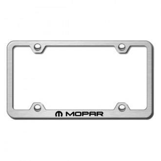 Autogold® - Wide Body Brushed Stainless Steel License Frame Universal