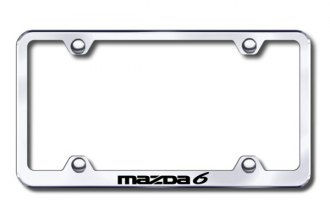 Autogold® - Laser Etched Mazda 6 Logo on Chrome Metal Frame