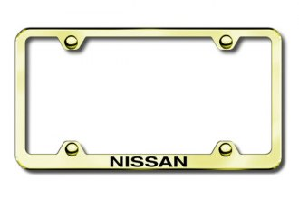 Autogold® - Laser Etched Nissan Logo on Gold Frame