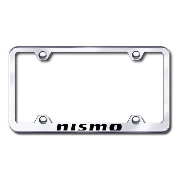 Autogold® - Laser Etched NISMO Logo on Wide Body Chrome Metal Frame