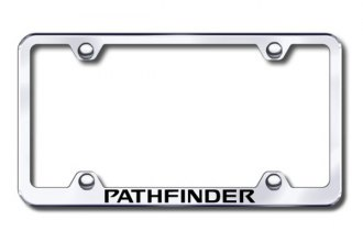 Autogold® - Laser Etched Pathfinder Logo on Wide Body Chrome Metal Frame