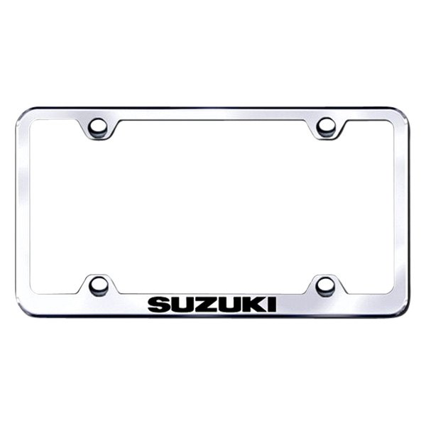 Autogold® - Laser Etched Suzuki Logo on Wide Body Chrome Frame