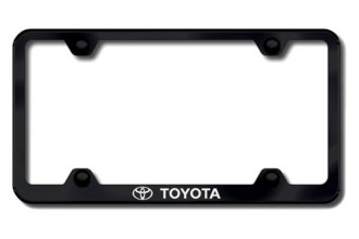 Autogold® - Toyota Logo on Black License Plate Frame