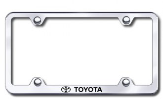 Autogold® - Laser Etched Toyota Logo on Wide Body Chrome Metal Frame
