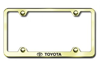 Autogold® - Laser Etched Toyota Logo on Gold Frame