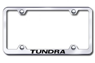Autogold® - Laser Etched Tundra Logo on Wide Body Chrome Metal Frame